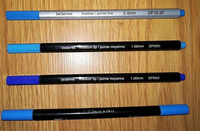 Pointe fine et pointe moyenne de Omer Desseres et Dual tip pen de Wanshui Art Marker
